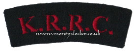 WW2 KRRC Shoulder Titles (Pair)