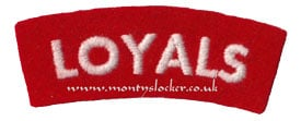 WW2 Loyals Shoulder Title