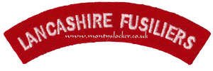 WW2 Lancashire Fusiliers Shoulder Title