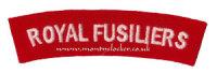 WW2 Royal Fusiliers Shoulder Titles (Pair)