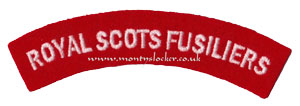 WW2 Royal Scots Fusiliers Shoulder Title