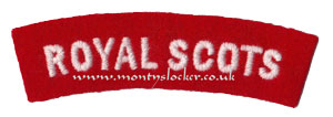WW2 Royal Scots Shoulder Title