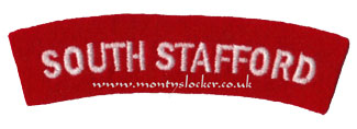 WW2 South Stafford (Standard) Shoulder Title