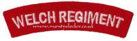 WW2 Welch Regiment Shoulder Titles (Pair)