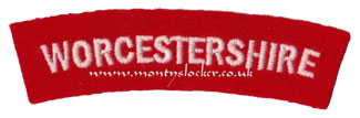 WW2 Worcestershire Shoulder Titles (Pair)