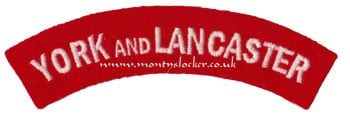 WW2 York and Lancaster Shoulder Title