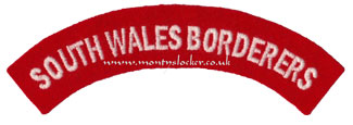 WW2 South Wales Borderers Shoulder Title