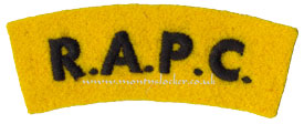 WW2 RAPC Shoulder Titles (Pair)