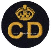 WW2 Civil Defence (CD) Breast Badge