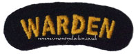 Civil Defence (CD) Warden Shoulder Title