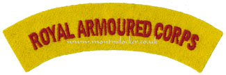 WW2 Royal Armoured Corps (RAC) Shoulder Title