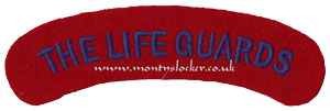 WW2 The Life Guards Shoulder Titles (Pair)