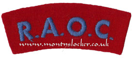 WW2 RAOC Shoulder Title