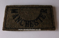 Manchester Regiment Black on Khaki Slip
