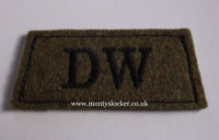 Duke of Wellington's Black on Khaki Slip