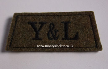 York and Lancaster Black on Khaki Slip