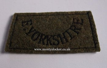 East Yorkshire Regiment Black on Khaki Slip