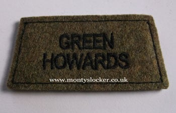 Green Howards Black on Khaki Slip