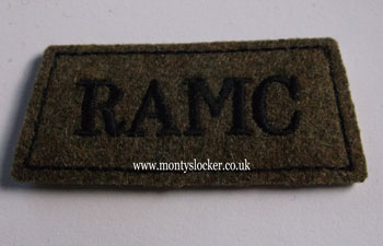 RAMC Black on Khaki Slip