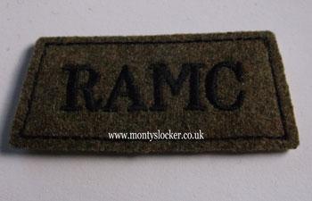 RAMC Black on Khaki Slip