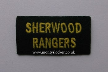 WW2 Sherwood Rangers Shoulder Title