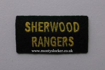 WW2 Sherwood Rangers Shoulder Titles (Pair)