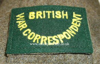 WW2 British War Correspondent Shoulder Slides (Pair)