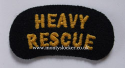 Civil Defence (CD) Heavy Rescue Shoulder Titles (Pair)