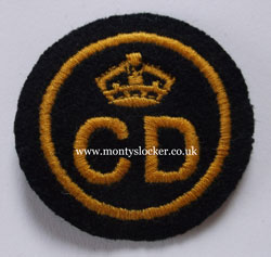 WW2 Civil Defence (CD) Beret Badge