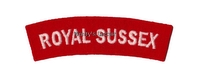 WW2 Royal Sussex Shoulder Titles (Pair)