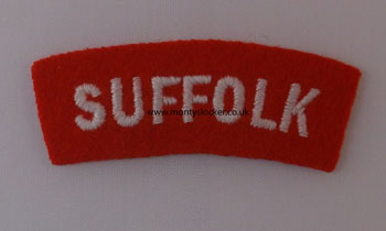 WW2 Suffolk Shoulder Titles (Pair)