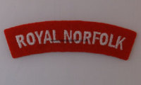 WW2 Royal Norfolk Shoulder Titles (Pair)