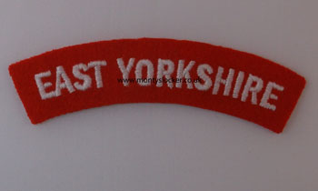 WW2 East Yorkshire Shoulder Titles (Pair)