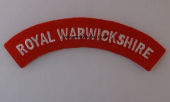 WW2 Royal Warwickshire Shoulder Titles (Pair)