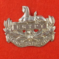 Gloucestershire Regiment Cap & Back Badge