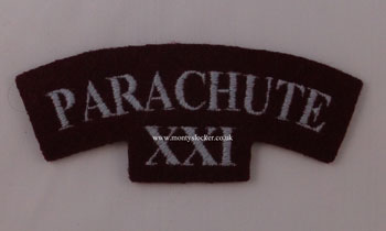 WW2 Parachute (21st Bn)  Shoulder Title (Pair)