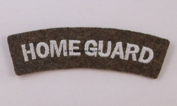 WW2  Home Guard Shoulder Title