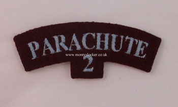 WW2 Parachute (Bn - Nos 1 - 4)  Shoulder Titles (Pair)