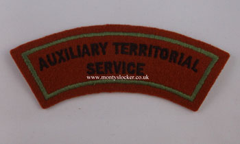 WW2 ATS Shoulder Title