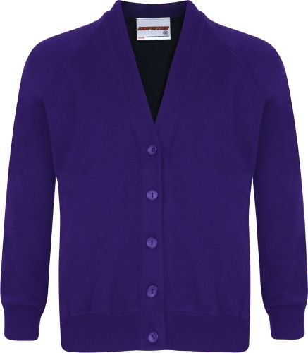 Netley Abbey Infants Purple Cardigan