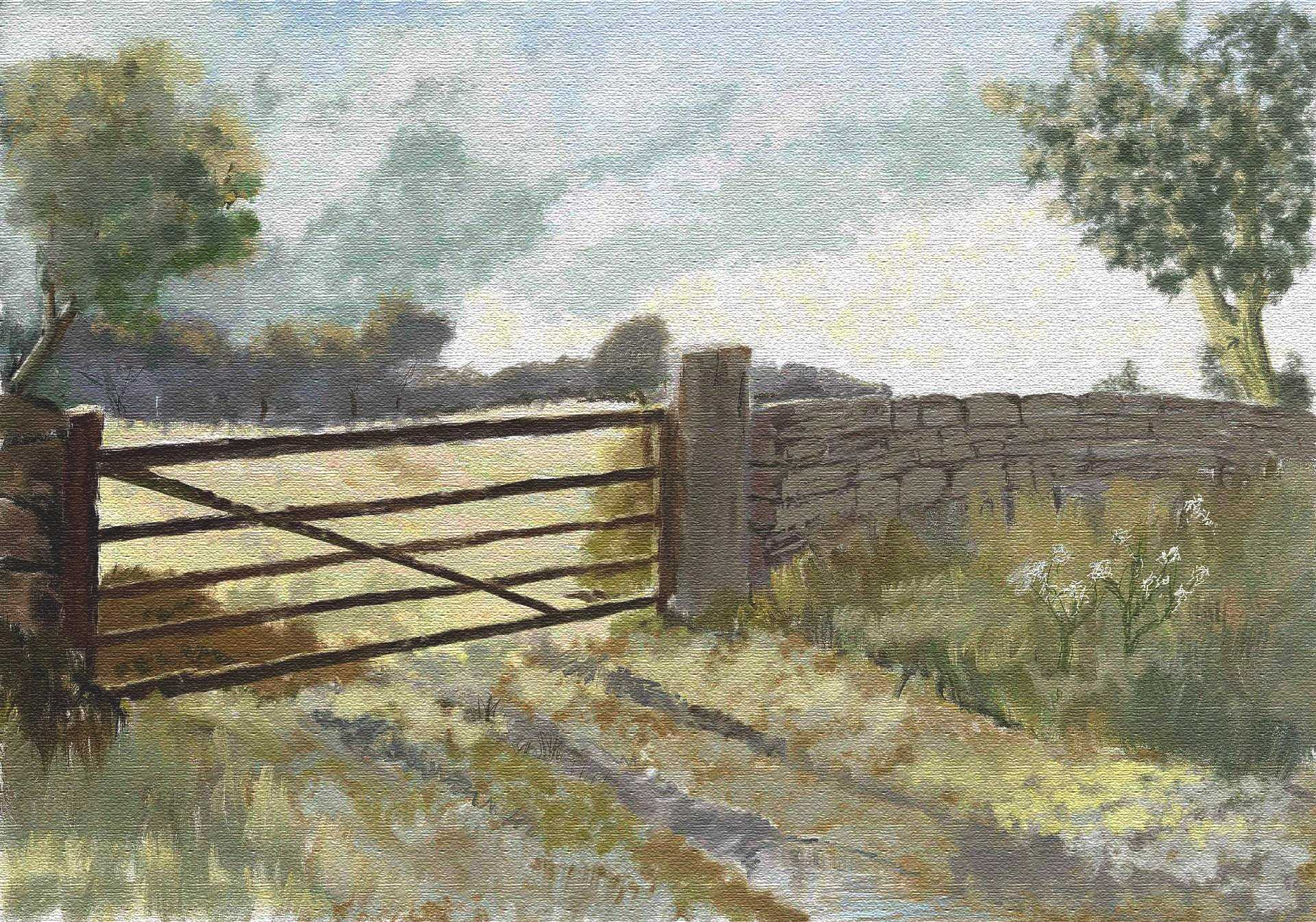 the gate on canvas