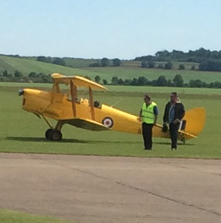 Biggles lands safely