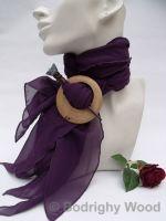 celtic brooch scarf