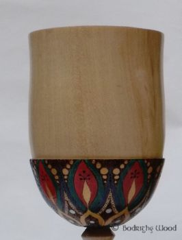 large decorated goblet detail