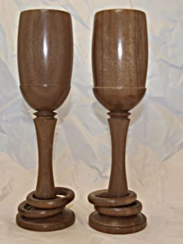 walnut wedding goblets 9 inch (3)
