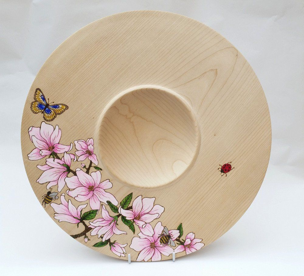 Decorated Maple platter