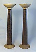 walnut pear candlesticks 2