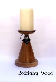 oak candle pillar 3