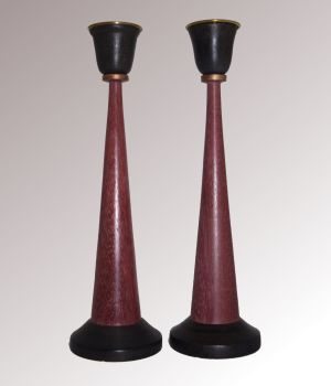 purple heart candlesticks