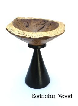 Gilded Oak Burr Bowl